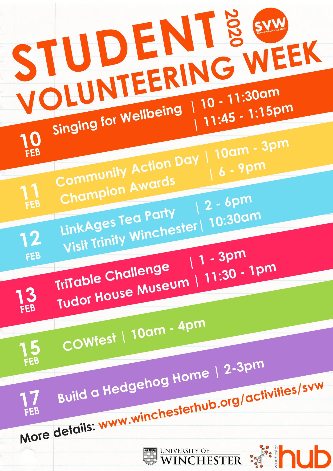 Student Volunteering Week 2020